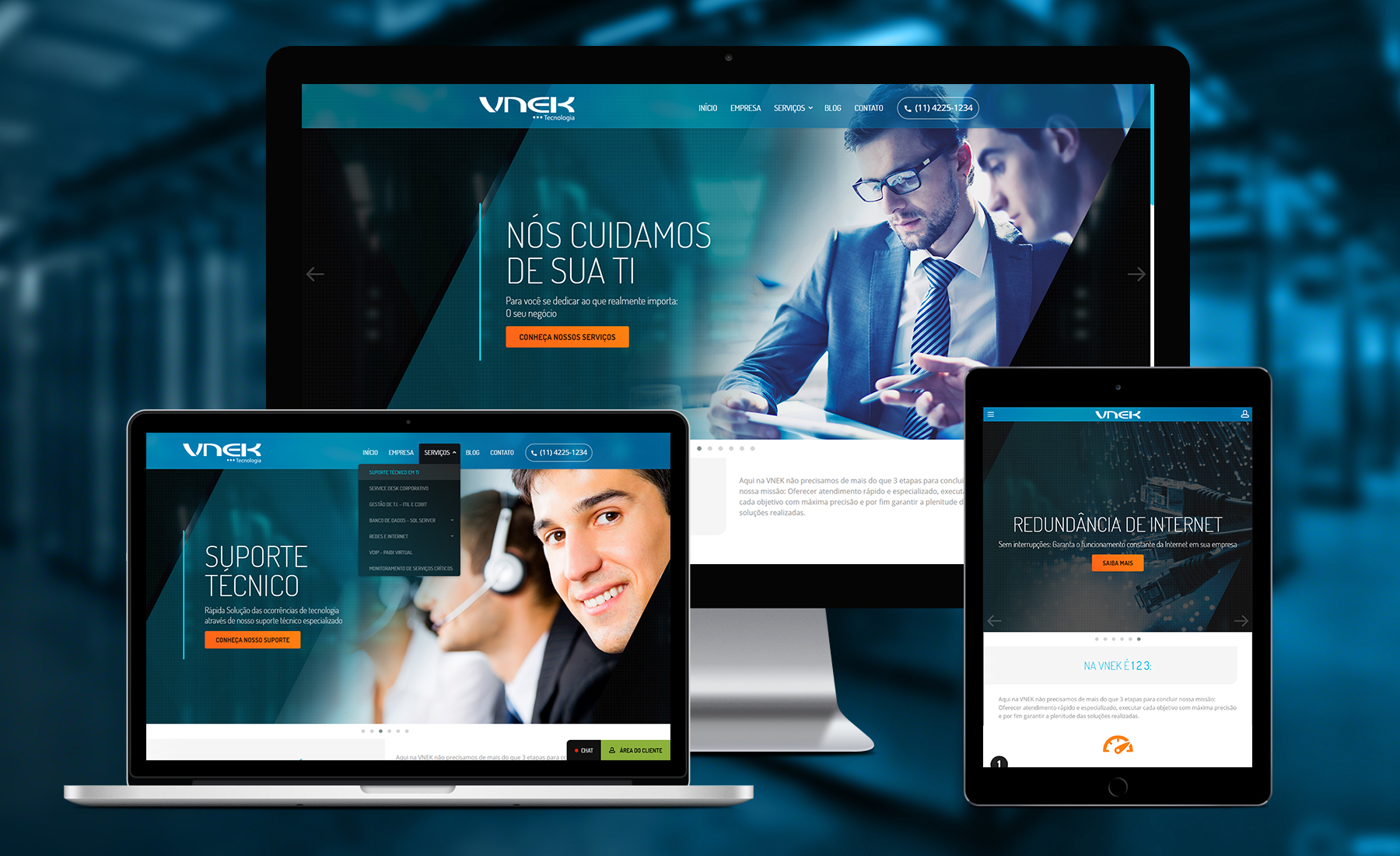Novo Website VNEK Tecnologia