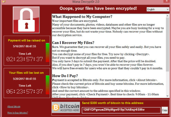 Solicitação de Resgate Ransomware